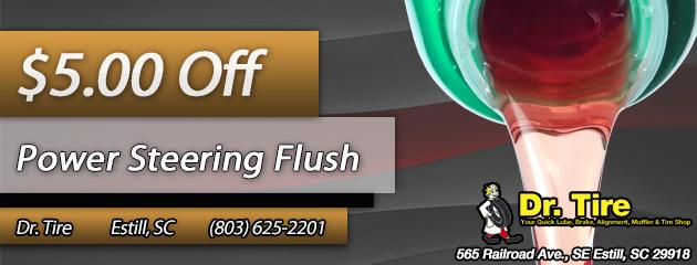 $5 off power steering flush