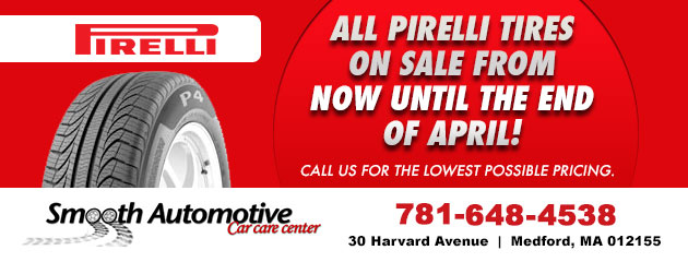 All pirelli tires on sale from now until the end of April!