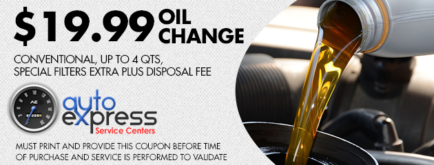 $19.99 OIL CHANGE