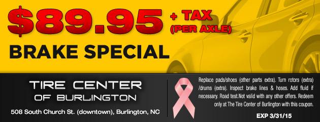 $89.95 Brake Special