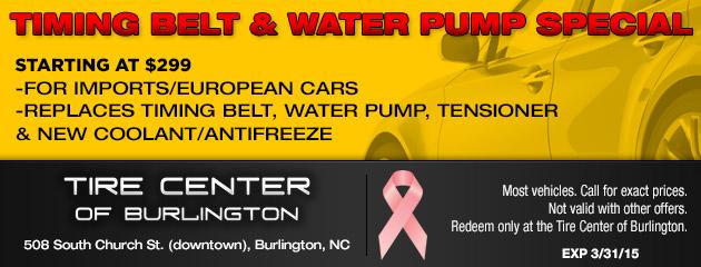 Timing Belt & Water Pump Special