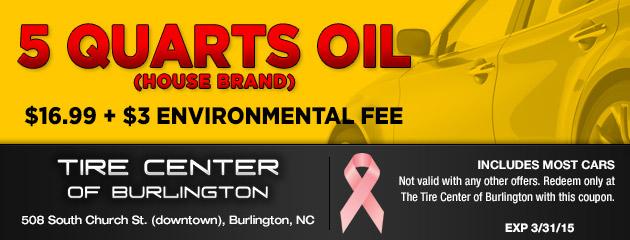 5 Quarts Oil