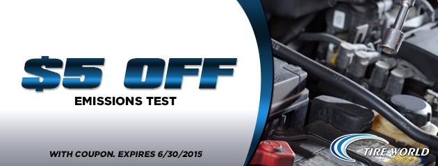 $5 Off Emissions Test