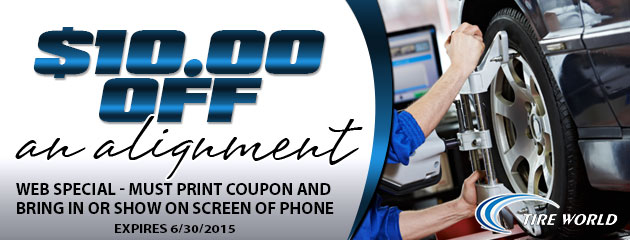 $10 off alignment (web special)