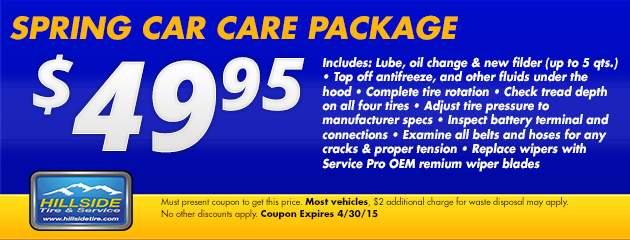 $49.95 Spring Car Care Package