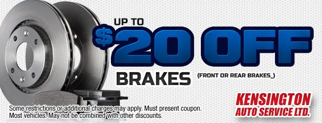 $20 Off Brakes