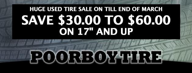 Huge Used tire sale