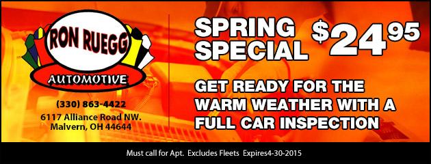 Spring Special - $24.95