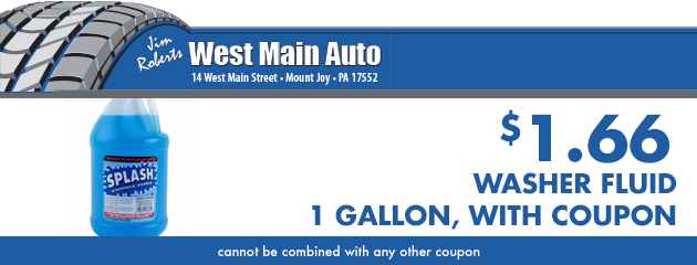 Washer Fluid gallon - $1.66 with coupon