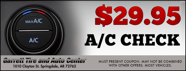A/C Check for $29.95