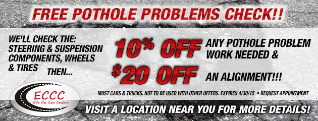 FREE Pothole Problems Check!!