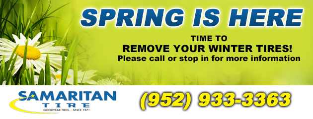 Spring is Here - Time to remove your winter tires!
