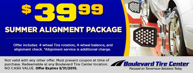 $39.99 SUMMER ALIGNMENT PACKAGE