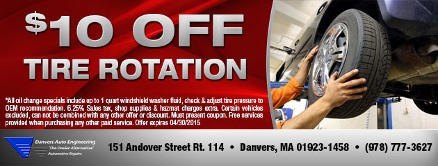 $10 Off Tire Rotation!