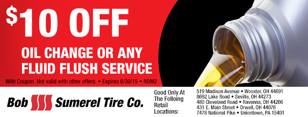 $10 OFF OIL CHANGE OR ANY FLUID FLUSH SERVICE