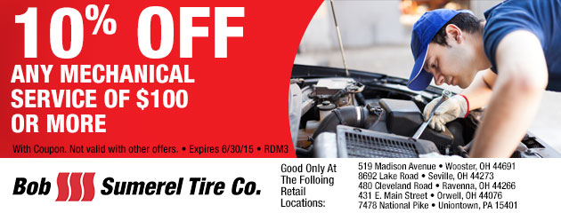 10% OFF ANY MECHANICAL SERVICE OF $100 OR MORE