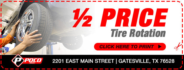 1/2 Price Tire Rotation