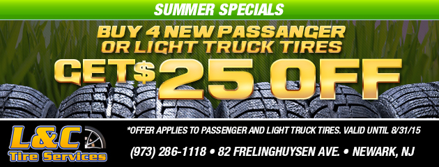 Summer Special! - Buy 4 Tires Get $25 Off