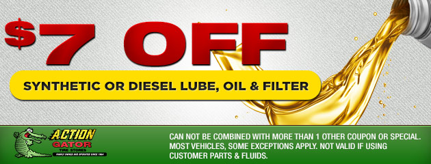 $7 off Synthetic Lube, Oil & Filter