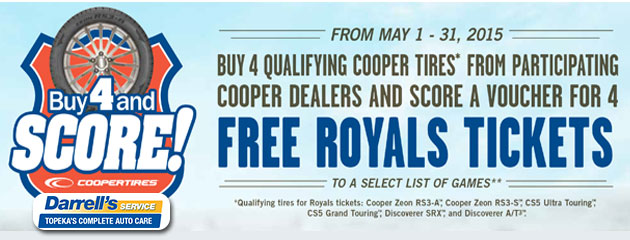 Win Royals Tickets From Cooper Tires