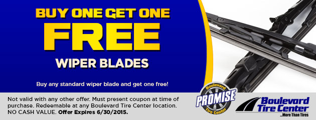 BUY ONE GET ONE FREE WIPER BLADES
