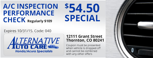A/C Inspection Performance Check - $54.50 Special