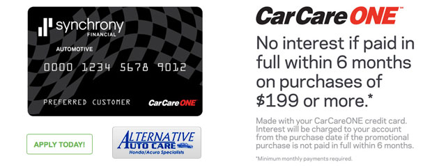 Car Care One Financing