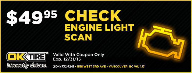 Check Engine Light Scan $49.95