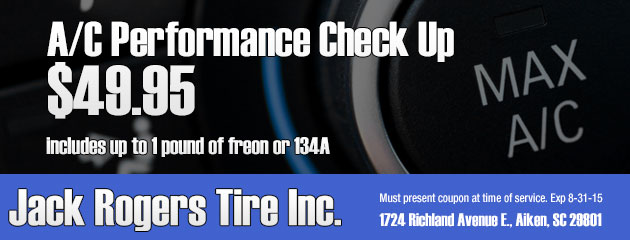A/C performance check up $49.95