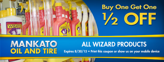 All Wizard products Buy One - Get One 1/2 off