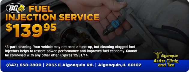 BG Fuel Injection Service $139.95