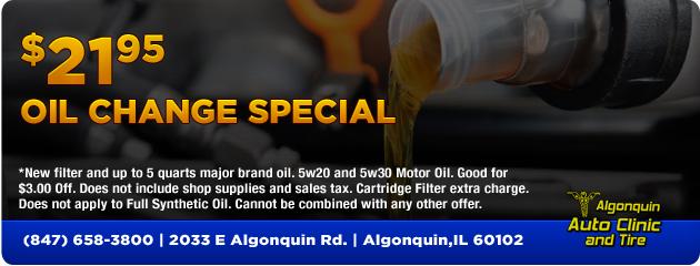 Oil Change $21.95