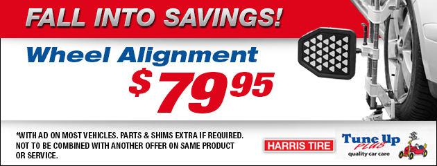 $79.95 Wheel Alignment