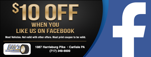 $10 Off When You Like Us On Facebook