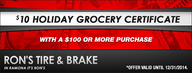 $10 Grocery Certificate with $100 or More Purchase