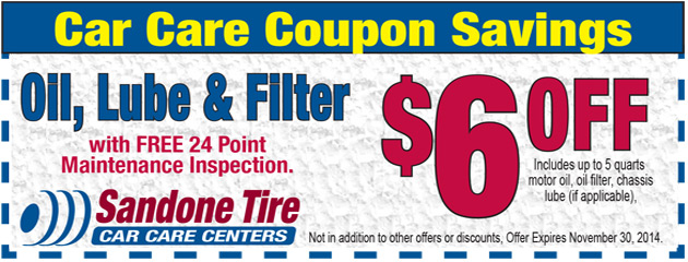 $6.00 Off Oil, Lube & Filter