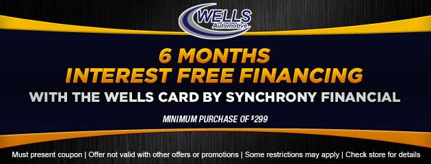 6 Months Interest Free