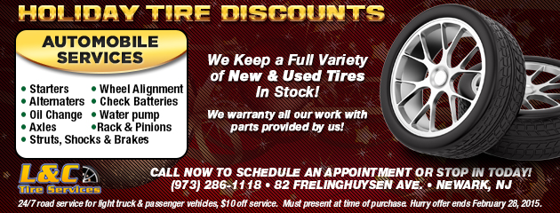 Holiday Tire Discounts