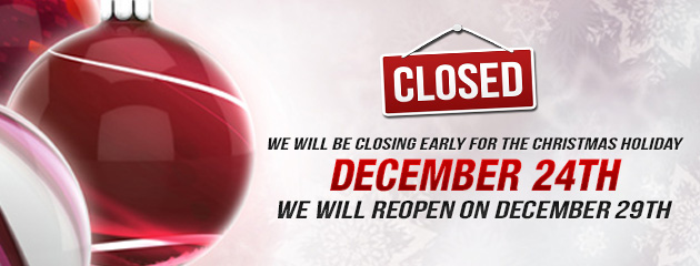 Christmas Holiday 3 - Closed Early 12/24, Open 12/29 - JB