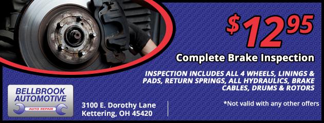$12.95 Complete Brake Inspection