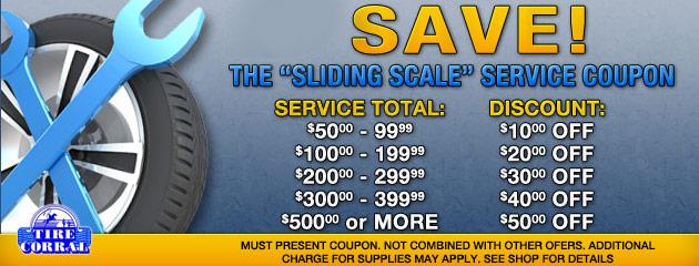 Sliding Scale Service