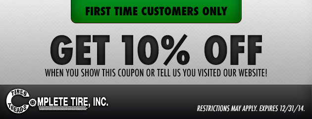 First Time Customers Receive 10% Off
