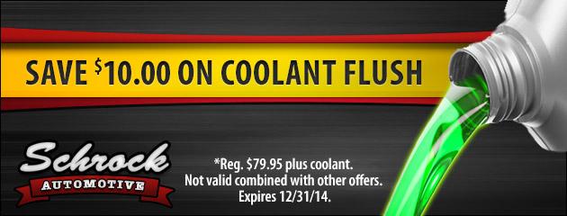 Save $10.00 On Coolant Flush