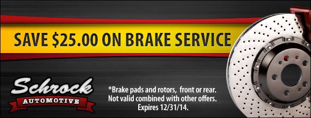 Save $25 On Brake Service