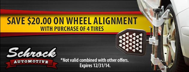Save $20 On Wheel Alignment