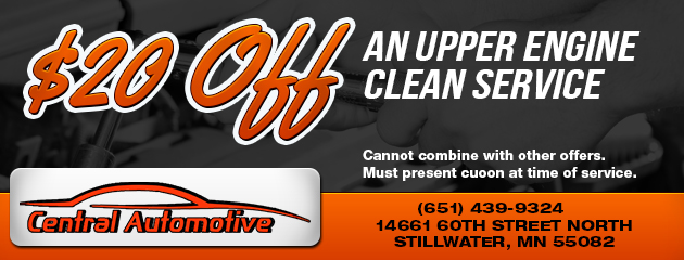 $20 Off Upper Engine Clean Service