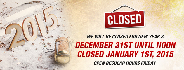 New Years Hours!