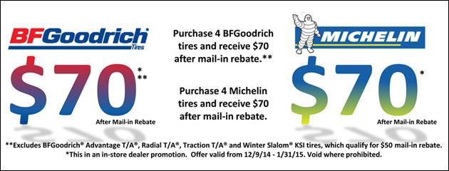 BFGoodrich & Michelin Tire Special