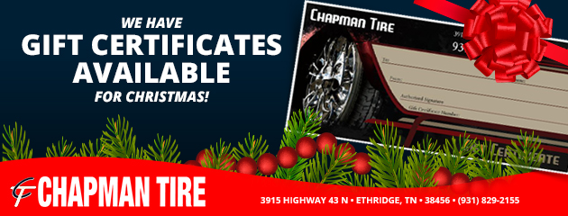 Christmas Gift Certificates Available!