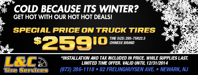 Hot, Hot Deals for Winter! - Special Price on Truck Tires!